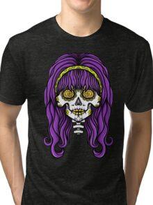Alternative Hippy Skull Tri-blend T-Shirt