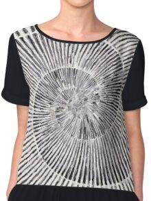 Flat Shell Spiral Women's Chiffon Top