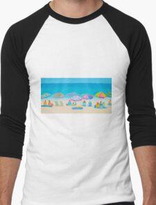 Beach Art - Live By The Sun Men's Baseball ¾ T-Shirt