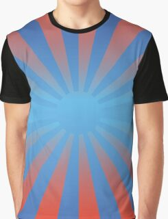Blue & Red Sun Graphic T-Shirt