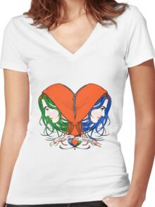 Clementine's Heart Women's Fitted V-Neck T-Shirt