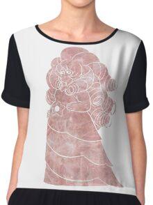 Rose in Rose Quartz Chiffon Top