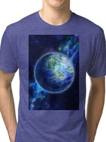 Beautiful Earth is in space Tri-blend T-Shirt