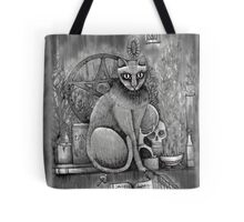 witch cat Tote Bag