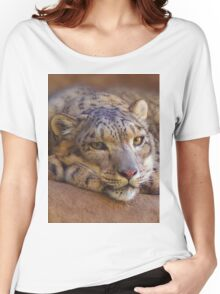 Snow Leopard Women's Relaxed Fit T-Shirt