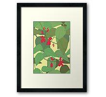 Scarlet runner beans pattern 1 Framed Print