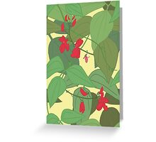 Scarlet runner beans pattern 1 Greeting Card