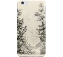 Southern wild flowers and trees together with shrubs vines Alice Lounsberry 1901 084 View From the Path up Grandfather Mountain iPhone Case/Skin