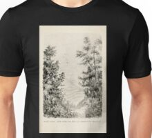 Southern wild flowers and trees together with shrubs vines Alice Lounsberry 1901 084 View From the Path up Grandfather Mountain Unisex T-Shirt