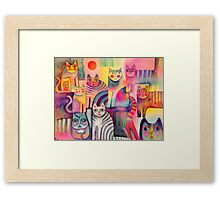 Cats galore Framed Print