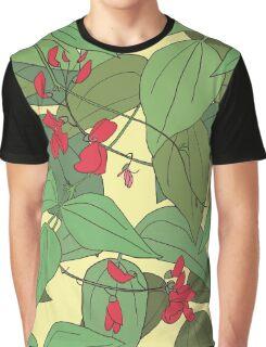 Scarlet runner beans pattern 2 Graphic T-Shirt