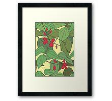 Scarlet runner beans pattern 2 Framed Print