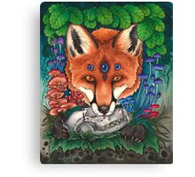 Undergrowth - Red Fox Canvas Print