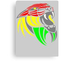 Reggae Music Cool Lion Reggae Colors T Shirts and Stickers Canvas Print