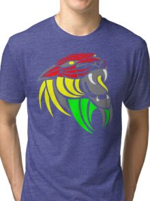 Reggae Music Cool Lion Reggae Colors T Shirts and Stickers Tri-blend T-Shirt