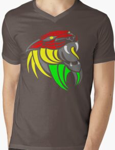 Reggae Music Cool Lion Reggae Colors T Shirts and Stickers Mens V-Neck T-Shirt