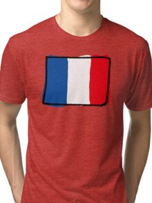 France flag Tri-blend T-Shirt