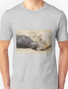 Northern Elephant Seal Sleeping With Her Pup Unisex T-Shirt