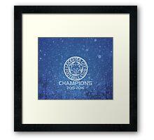 Leicester City Premier League Champions 3 Framed Print