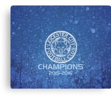 Leicester City Premier League Champions 3 Canvas Print