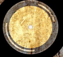 Vintage Vinyl Record Rust Texture - RETRO MUSIC DJ! Sticker