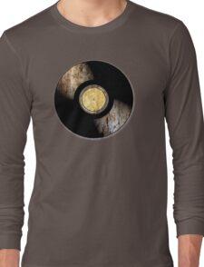 Vintage Vinyl Record Rust Texture - RETRO MUSIC DJ! Long Sleeve T-Shirt
