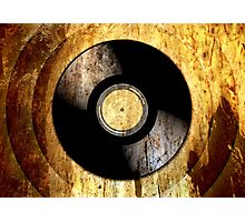 Vintage Vinyl Record Rust Texture - RETRO MUSIC DJ! Photographic Print
