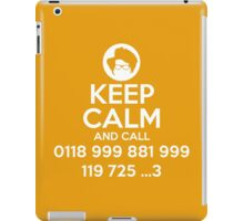 Keep Calm and Call IT iPad Case/Skin