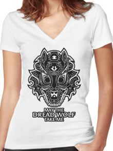 Dread Wolf Take Me Women's Fitted V-Neck T-Shirt