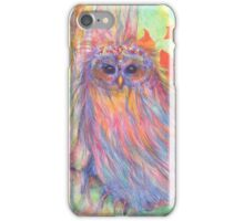 Colourful Owl in a tree iPhone Case/Skin