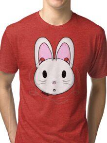 Bunny earphones Tri-blend T-Shirt