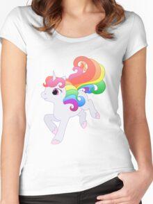 Cute Baby Rainbow Unicorn Women's Fitted Scoop T-Shirt