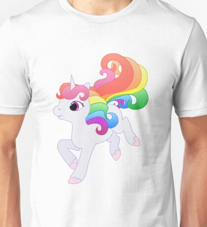 Cute Baby Rainbow Unicorn Unisex T-Shirt
