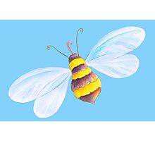Cute honey bee whimsical watercolor art Photographic Print