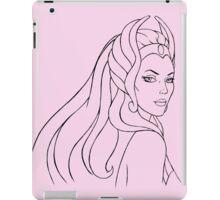 She-Ra Princess of Power (Black Line Art) iPad Case/Skin