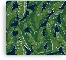 Leaves Bananique in Atlantic Navy Canvas Print