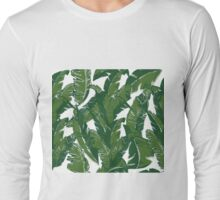 Leaves Bananique in Shell White Long Sleeve T-Shirt