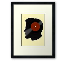 Vinyl Records Lover - The DJ - Vinylized Man T Shirt Framed Print