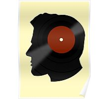 Vinyl Records Lover - The DJ - Vinylized Man T Shirt Poster