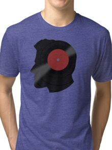 Vinyl Records Lover - The DJ - Vinylized Man T Shirt Tri-blend T-Shirt