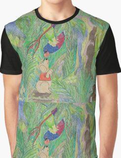 Puppy meets Rainbow Lorikeet  Graphic T-Shirt