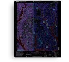 USGS TOPO Map Alabama AL Arley 303145 2000 24000 Inverted Canvas Print
