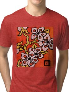 blossom detail Tri-blend T-Shirt