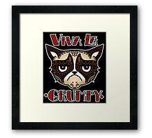 VIVA LA GRUMPY! Framed Print