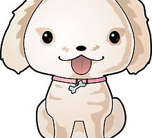 Cute Puppy Vector Drawing by LyddieDoodles