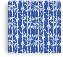 Bamboo Rainfall in China Blue/Seashell White Canvas Print