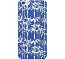 Bamboo Rainfall in China Blue/Seashell White iPhone Case/Skin