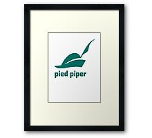 Pied Piper 3.0 Logo - Silicon Valley - New Logo - Season 3 Framed Print