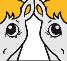 2 siblings sisters team few stall face little cute sweet foal pony horse pferdchen comic cartoon Sticker