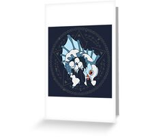 Kawaii Hunter ~ Glacial Agnaktor Greeting Card